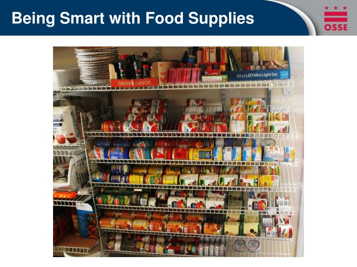 Being Smart with Food Supplies