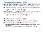 successive overrelaxation sor1