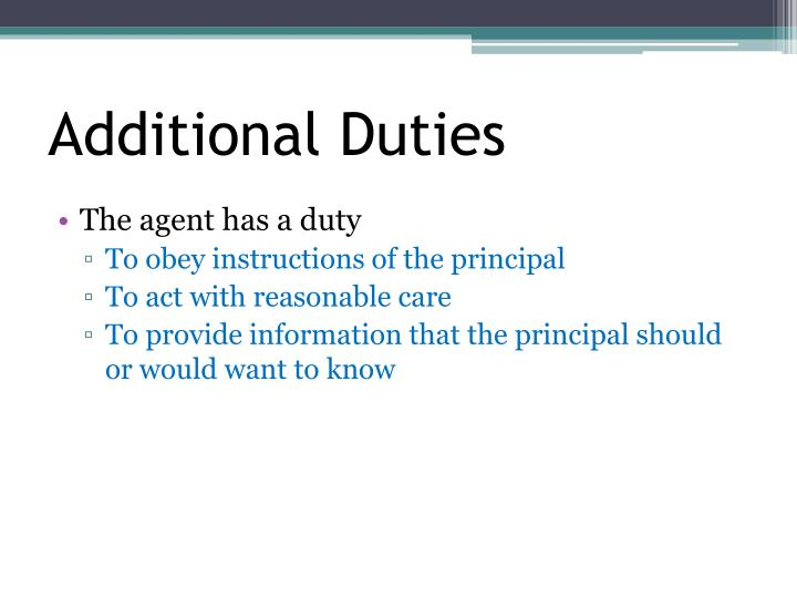 Additional Duties