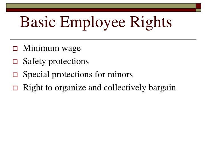 Basic Employee Rights
