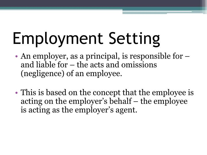Employment Setting
