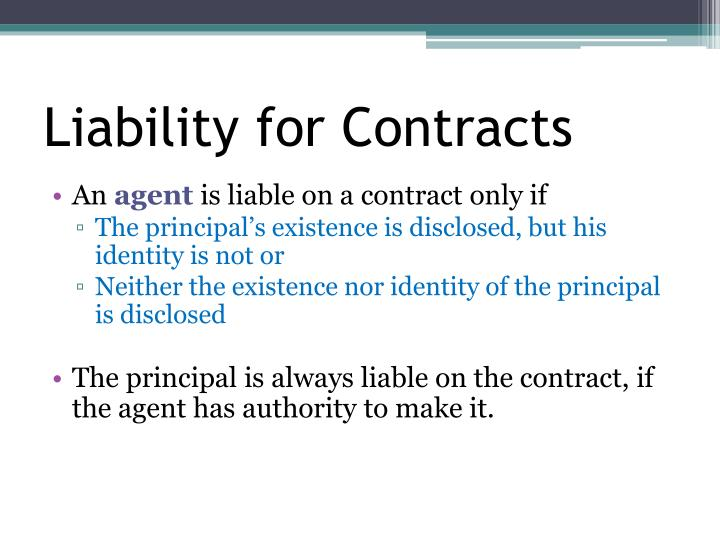Liability for Contracts