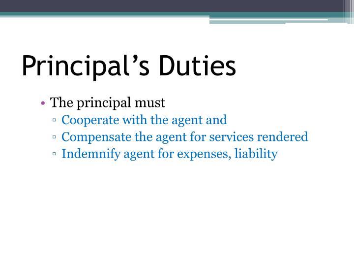 Principal's Duties