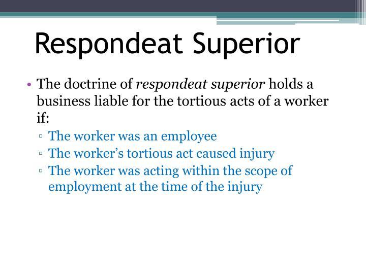 Respondeat Superior