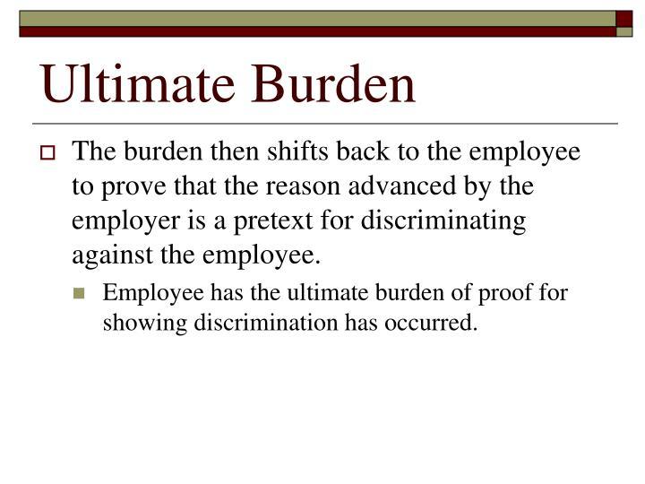 Ultimate Burden