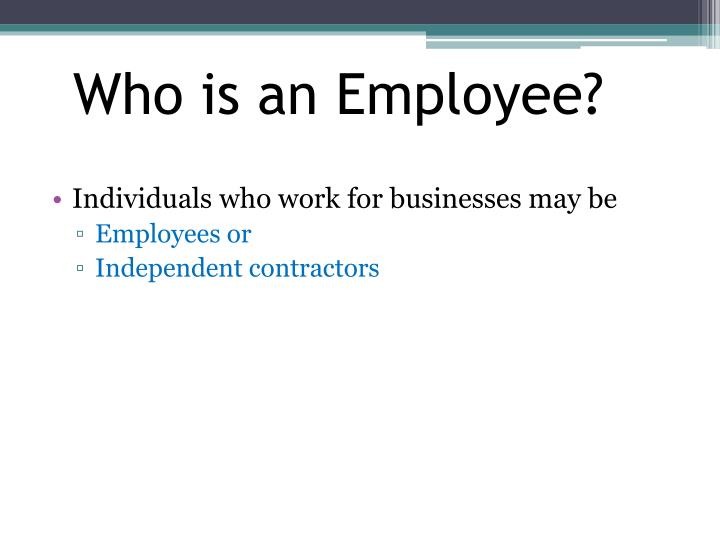 Who is an Employee?