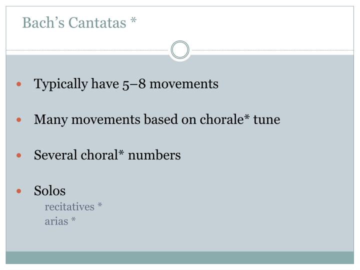Bach's Cantatas