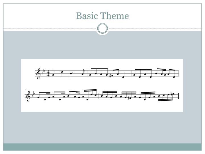 Basic Theme