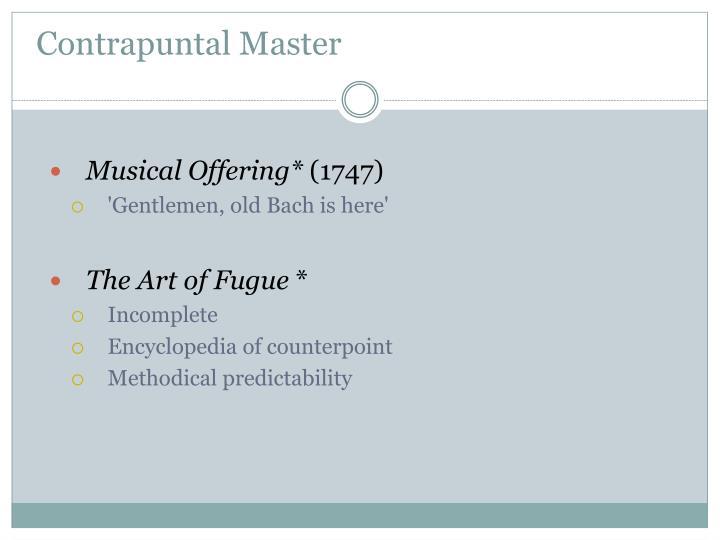 Contrapuntal Master