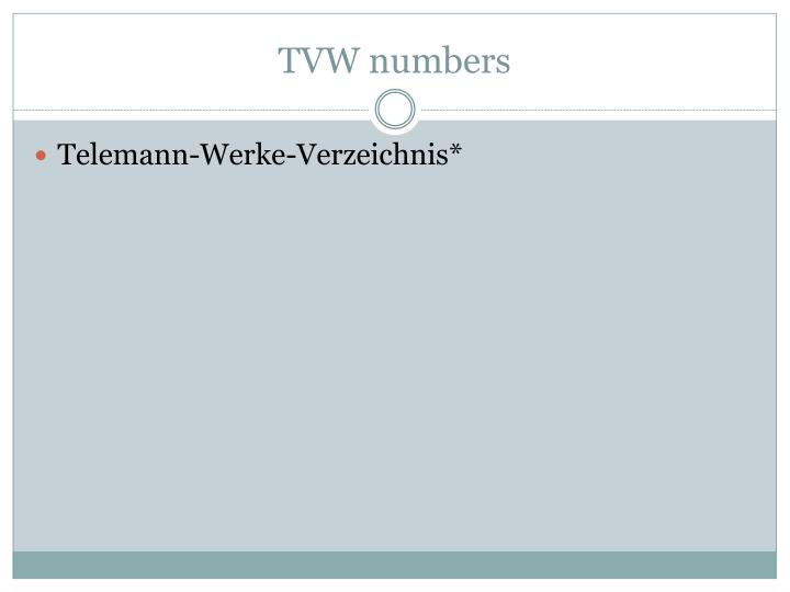 TVW numbers