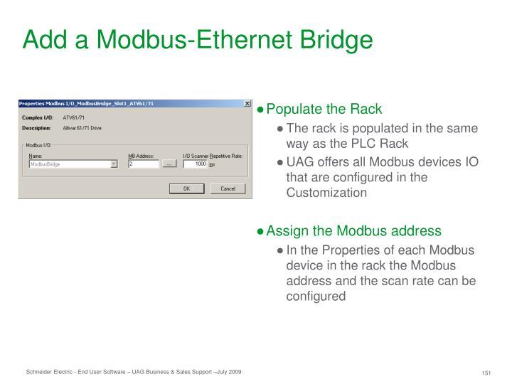 Add a Modbus-Ethernet Bridge