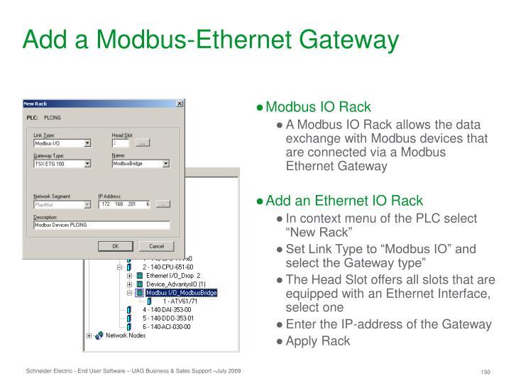 Add a Modbus-Ethernet Gateway