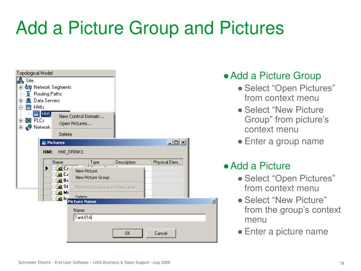Add a Picture Group and Pictures