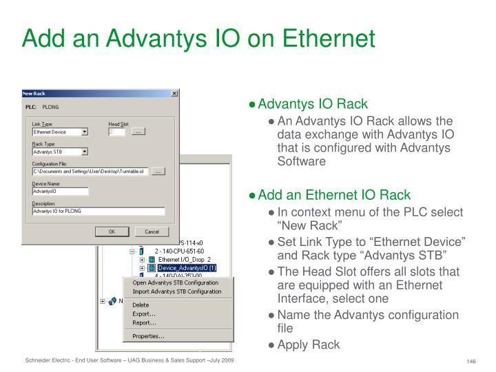 Add an Advantys IO on Ethernet