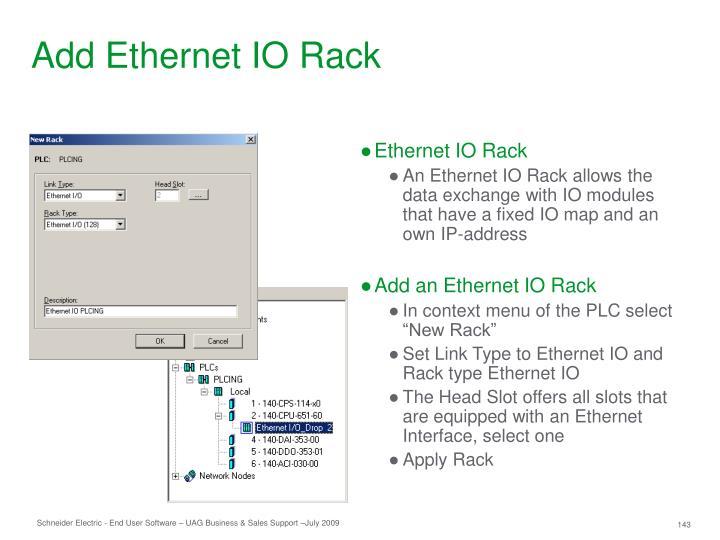 Add Ethernet IO Rack