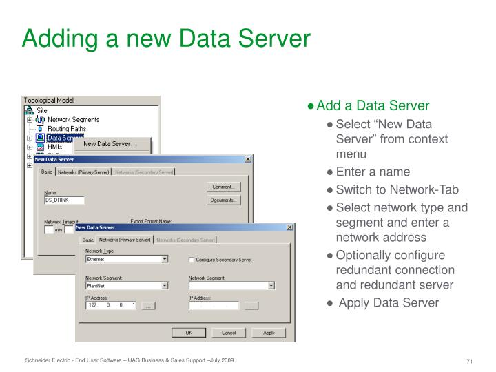 Adding a new Data Server