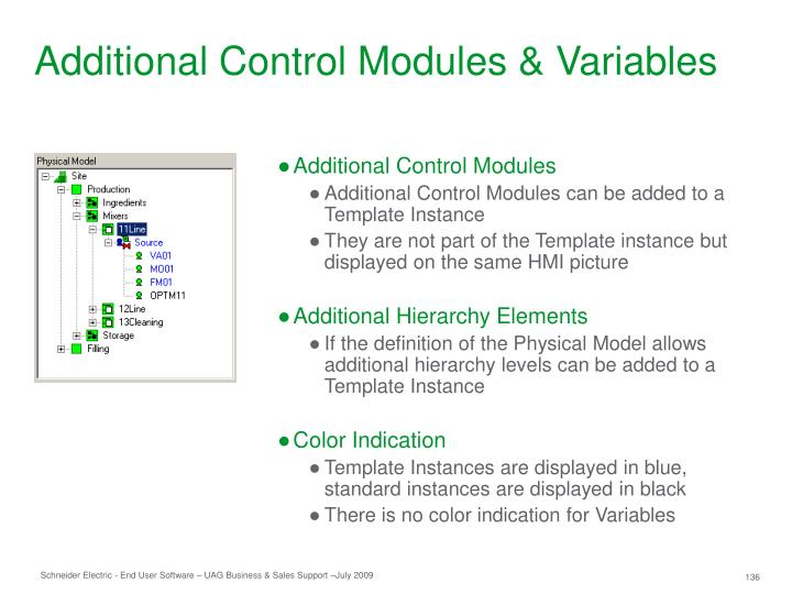 Additional Control Modules & Variables