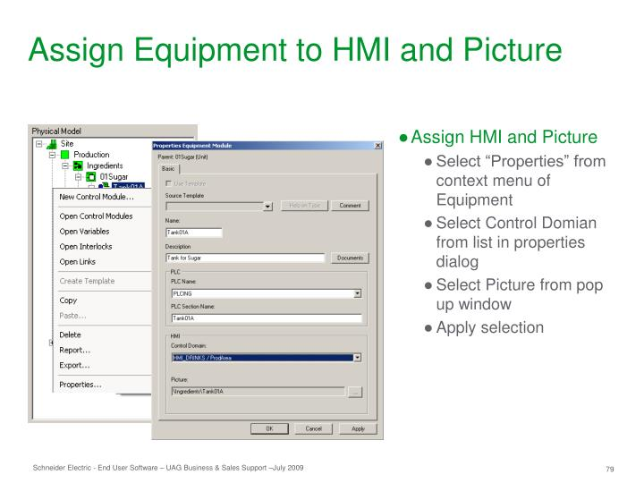 Assign Equipment to HMI and Picture