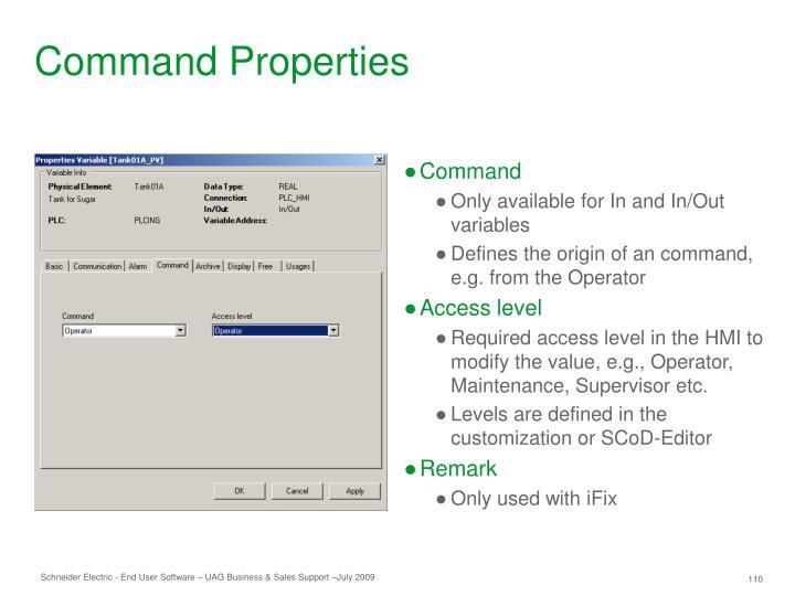 Command Properties