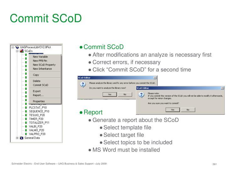 Commit SCoD