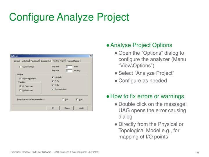 Configure Analyze Project