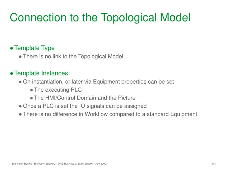 Connection to the Topological Model