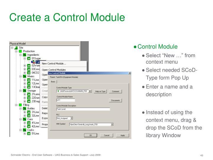 Create a Control Module