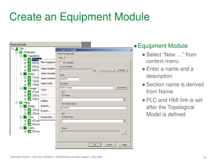 Create an Equipment Module