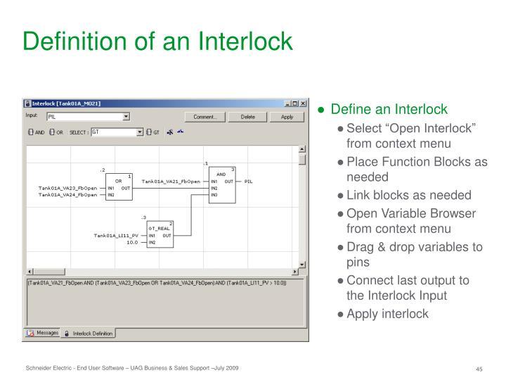 Definition of an Interlock