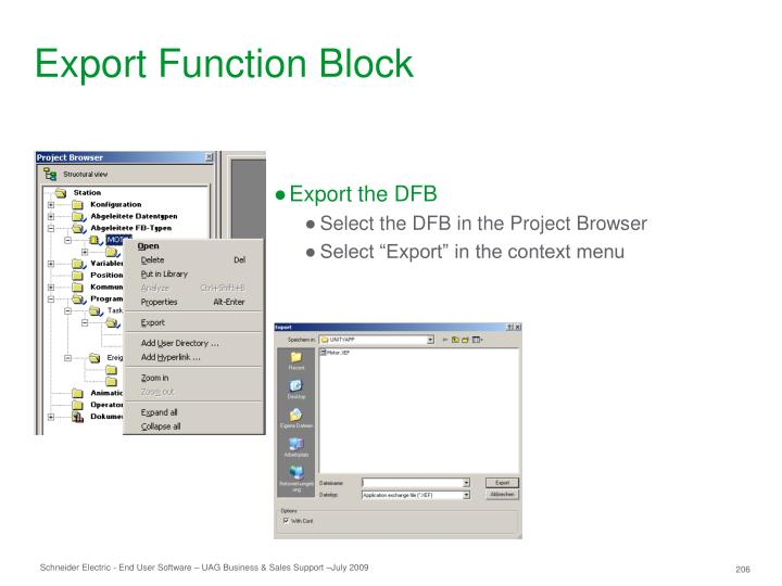 Export Function Block