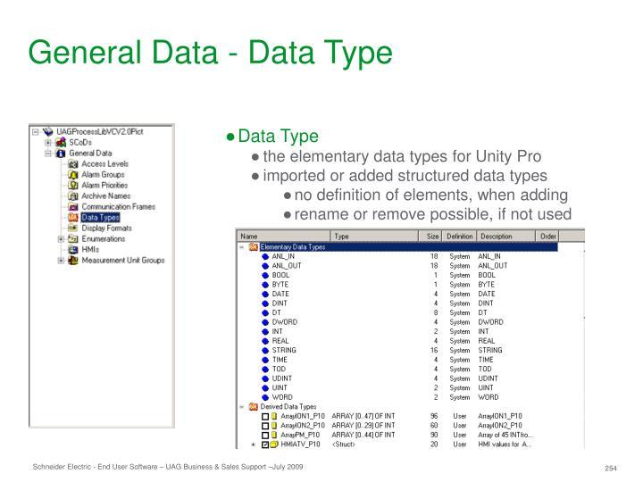 General Data - Data Type