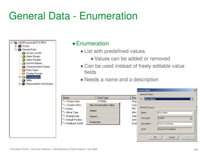 General Data - Enumeration