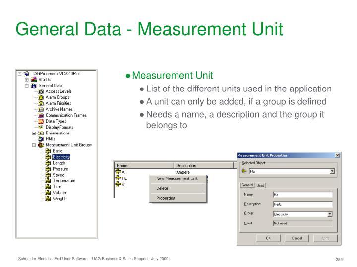 General Data - Measurement Unit
