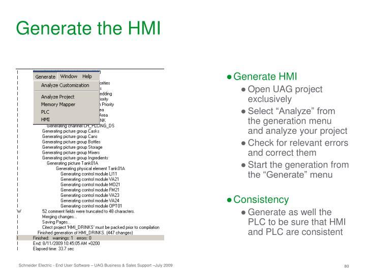 Generate the HMI
