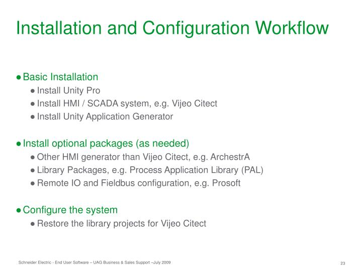 Installation and Configuration Workflow