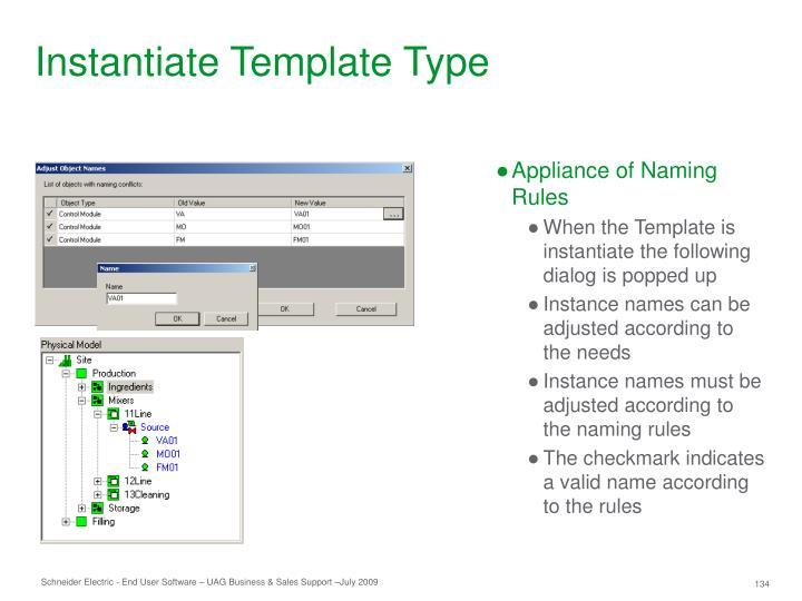 Instantiate Template Type