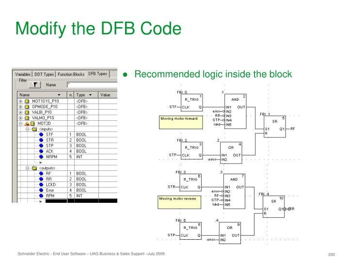 Modify the DFB Code