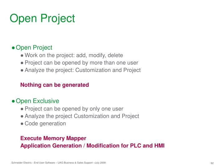 Open Project
