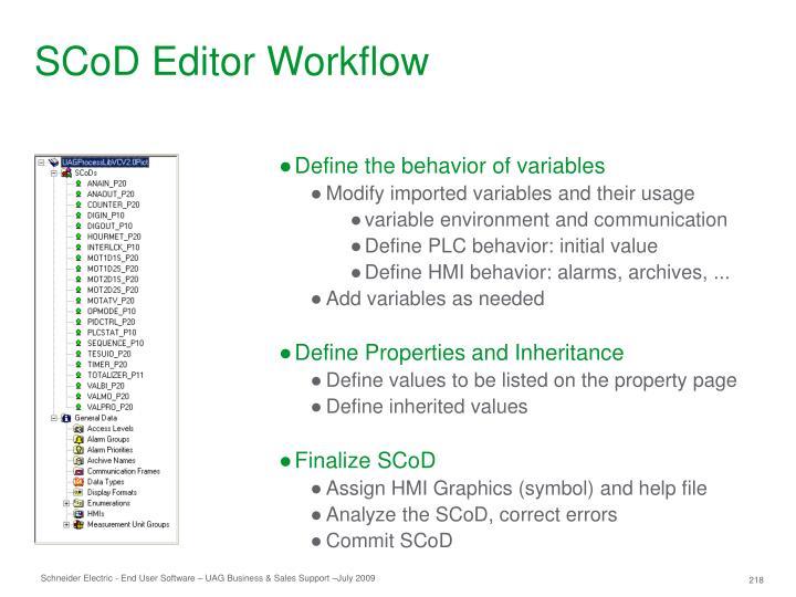 SCoD Editor Workflow