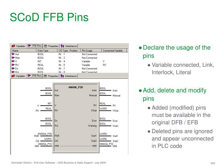 SCoD FFB Pins
