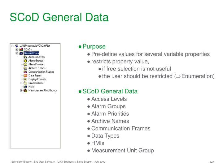 SCoD General Data