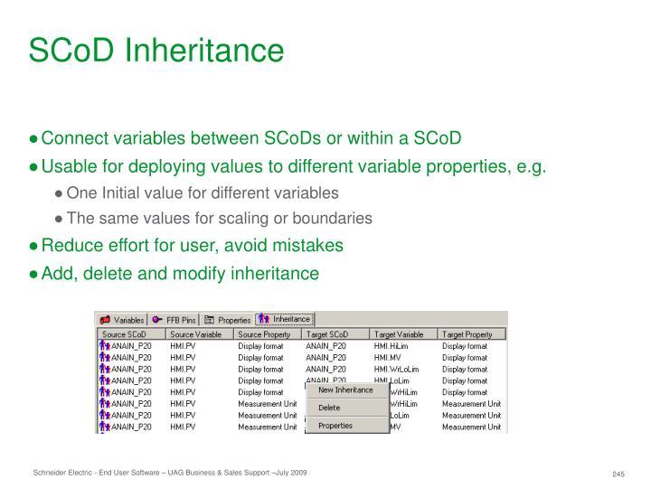 SCoD Inheritance