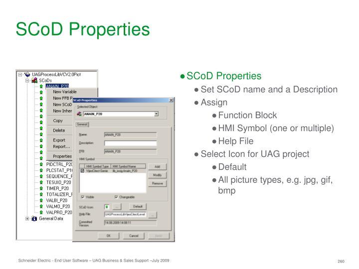 SCoD Properties