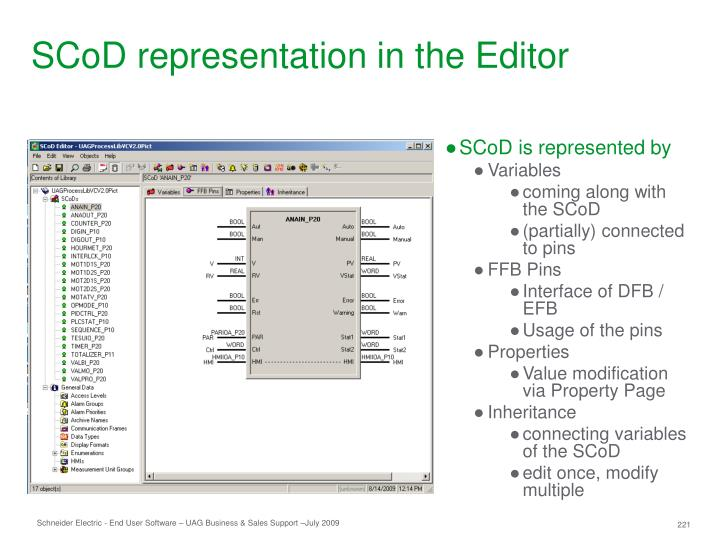 SCoD representation in the Editor