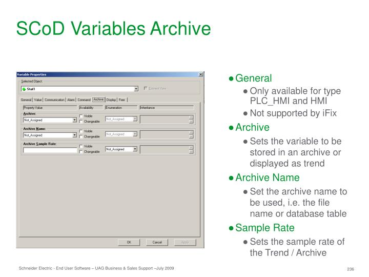 SCoD Variables Archive