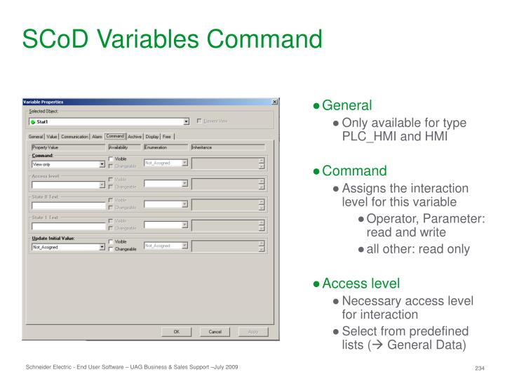 SCoD Variables Command