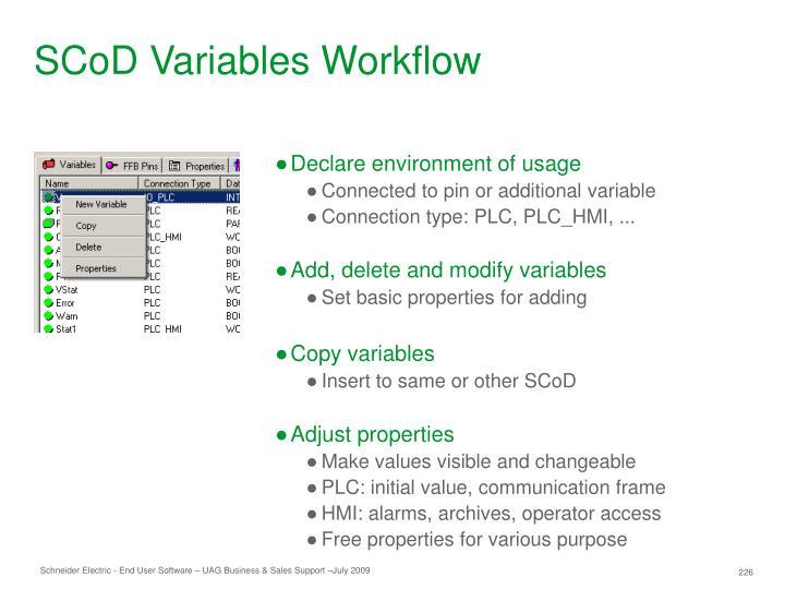 SCoD Variables Workflow