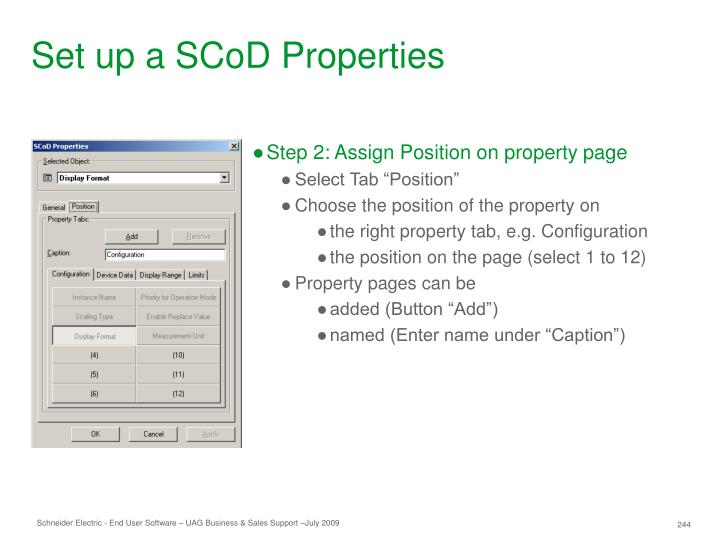 Set up a SCoD Properties