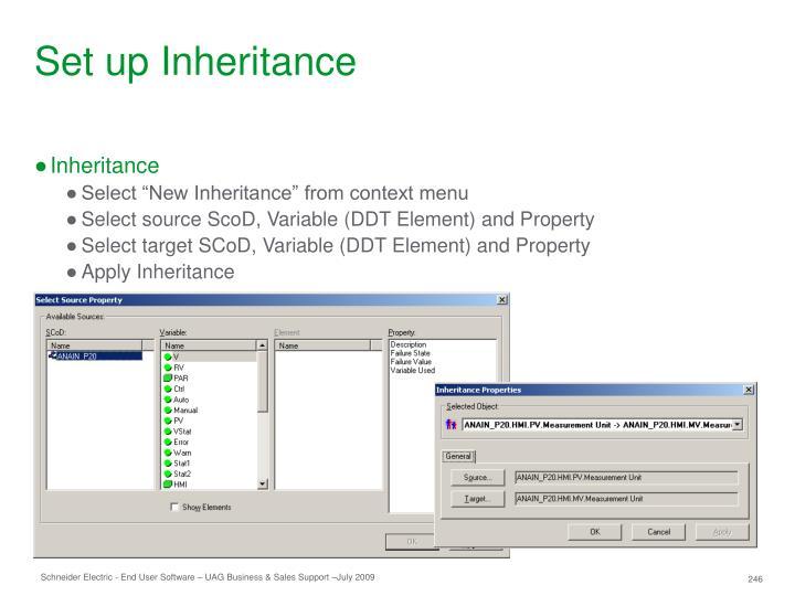 Set up Inheritance