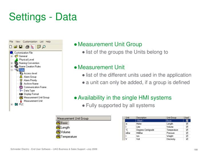 Settings - Data